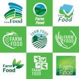 Organic food set Stock Images