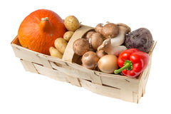 Organic food basket Royalty Free Stock Photo