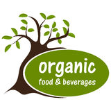 Organic Food and Beverages Icon Royalty Free Stock Images