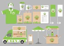 Organic food brading identity mock up template Stock Photos