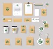 Organic food brading identity mock up Royalty Free Stock Photography