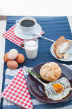 Organic food, breakfast, rural theme. Colorful breakfast theme, morning concept stock photo