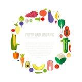 Organic Food Concept Royalty Free Stock Photos