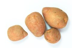 Organic food concept top view fresh red potatoes on white background Royalty Free Stock Photography