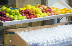 Organic Food on Counter Outdoors Stock Image