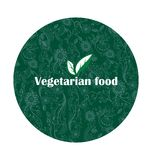 Organic food. Emblem of healthy nutrition Stock Image