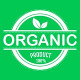 Organic food, farm fresh and natural product sticker and badge for food market, ecommerce, organic products promotion, healthy. Life and premium quality food royalty free illustration