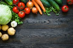 Organic food. Fresh vegetables. Useful and healthy eating Royalty Free Stock Photography