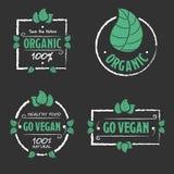 Organic food Go vegan icons set Stock Image
