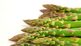 Organic food, green asparagus stock video footage