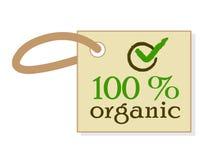 Organic food guarantee Royalty Free Stock Photography