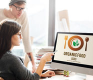 Organic Food Healthy Nourishment Concept.  Stock Images