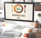 Organic Food Healthy Nourishment Concept Royalty Free Stock Image