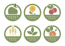 Organic food icons Royalty Free Stock Images