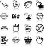 Organic food icons Stock Image