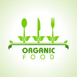 Organic food with kitchen utensils concept Stock Photos