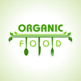 Organic food with kitchen utensils concept Royalty Free Stock Photos