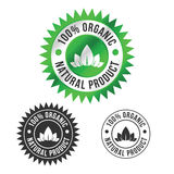 Organic Food Label. 100% Organic label, badge for natural food products Stock Photos