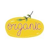 Organic food label. Logo for vegan menu or food. Royalty Free Stock Photos