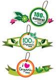 Organic food label Stock Photos