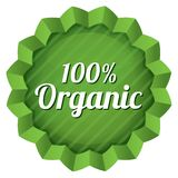 Organic food label, tag. Ecological green sticker. Royalty Free Stock Photo