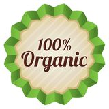 Organic food label, tag. Ecological sticker. Royalty Free Stock Image