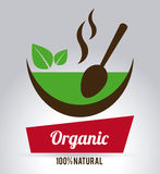 Organic food. Label ,vector illustration royalty free illustration