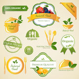 Organic Food Labels Royalty Free Stock Images
