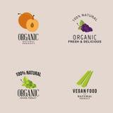 Organic Food Labels Stock Image
