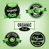 Organic Food Labels and Badges. Set of organic food labels. Vector EPS 10 available. Vector file contains transparencies Royalty Free Stock Image