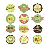Organic food labels and elements. Illustration eps10 Stock Photo
