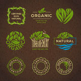 Organic food labels and elements Royalty Free Stock Photos