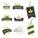 Organic food labels and elements.Vector stock image