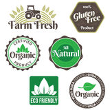 Organic Food Labels Stock Photo