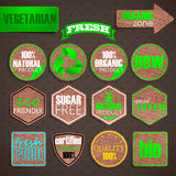 Organic food labels. labels with cardboard texture Stock Image