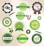 Organic food labels Royalty Free Stock Photography