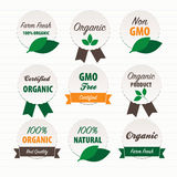 Organic food labels. Vector Illustration.Organic food labels Royalty Free Stock Images