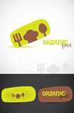 Organic food logo Stock Images