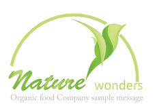Organic Food Logo Royalty Free Stock Photo