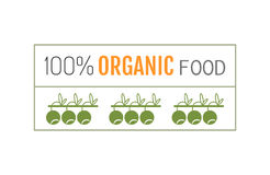 Organic food. Logo, badge, label for healthy eating. Berry icon Royalty Free Stock Photos