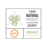 Organic food. Logo, badge, label for healthy eating, berry icon Stock Photo