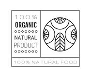 Organic food. Logo, badge and label for healthy eating with berry icon, silhouette. Vector illustration. Organic food. Logo, badge and label for healthy eating Royalty Free Stock Images