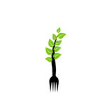 Organic food logo. For restaurant or cuisine Royalty Free Stock Photography