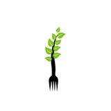 Organic food logo vector illustration