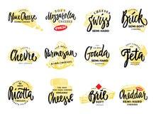 Organic Food Logos Set Stock Photography