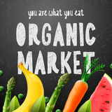 Organic food market Royalty Free Stock Image