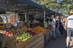 Organic Food Market Stock Image