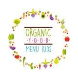 Organic food menu design. Vector illustration eps10 graphic royalty free illustration