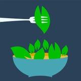 Organic food menu title logo template. Royalty Free Stock Photography