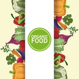 Organic food nutrition vitamins diet. Vector illustration eps 10 Royalty Free Stock Photos